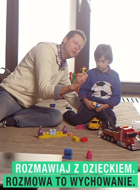 Rozmawiaj z dzieckiem - Rozmowa to wychowanie plakat